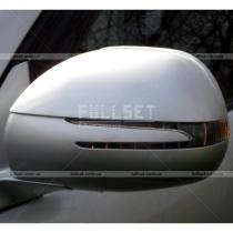 Корпуса на зеркала с повторителями поворотов (серебристый металлик)