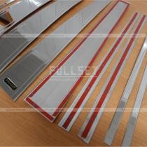 Хромированные накладки на стойки дверей, нержавеющий металл