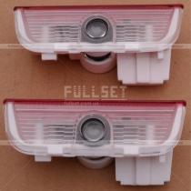 Светодиодный проектор-эмблемы Volkswagen в дверные карты, в штатное место