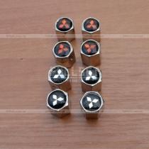 Хромированные колпачки на ниппеля Mitsubishi