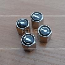 Хромированные колпачки на ниппеля с эмблемой Opel