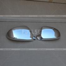 Хромированные колпаки на зеркала (нержавеющая сталь)