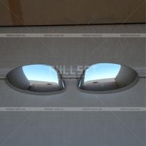 Хром-накладки на зеркала Nissan Juke (10-...)