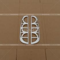 Хром задних фонарей Fiat Doblo (01-09)