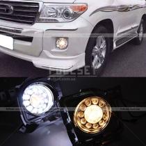 Противотуманки с Led Drl Toyota Land Cruiser 200 (08-...)