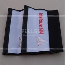 Чехлы для ремней безопасности с эмблемой и надписью Митсубиси