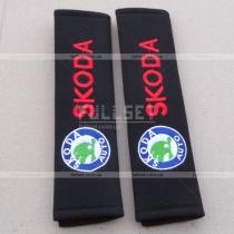 Декоративные чехлы для ремней пристегивания с вышитой эмблемой Skoda