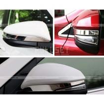 Хром полоски зеркал Toyota Rav 4 (2013-...)