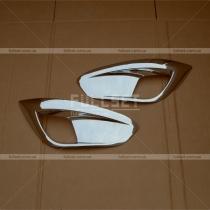 Хром-накладки на передние противотуманные фары Hyundai IX35