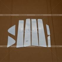 Накладки на стойки Nissan Juke (10-...)