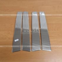 Хромированные накладки на вертикальные дверные стойки