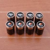 Декоративные карбоновые колпачки на ниппеля с символикой Тойота, TRD,