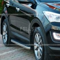 Пороги-площадки под кузов Hyundai Santa Fe (2013-...)
