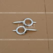 Хром-накладки на противотуманки Mercedes ML W164