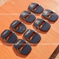 Накладки на петли дверных замков черные Toyota 4Runner (2010-...)