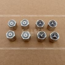 Хромированные золотники на колеса с эмблемами Mercedes Benz