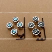 Комплект хромированных колпачков на ниппеля BMW