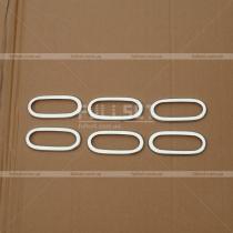 Хромированные окантовки боковых габаритов (высококачественная нержавейка)