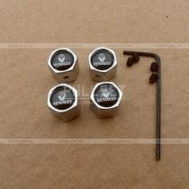 Колпачки на ниппеля с белым логтипом Renault