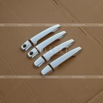 Хром-накладки на ручки Mitsubishi L-200 (06-12)