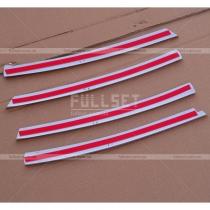 Хром-накладки на переднюю решетку радиатора Опель Астра (04-09)