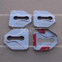 Хром накладки на петли (дверные навесы) дверных замков