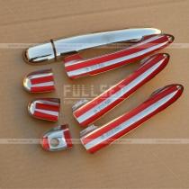 Декоративные хромированные накладки на ручки, комплект из 4 штук