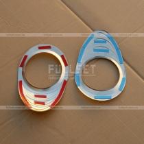 Хромированные накладки на переднюю противотуманную оптику (полированная нержавеющая сталь)
