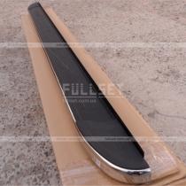 Боковые подножки, черные с хром кантом, с надписью Kangoo