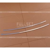 Хром-накладки на решетку переднего бампера Рено Кангу (2008+)