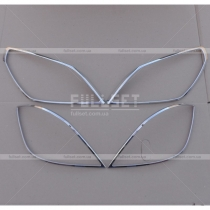 Накладки на фары и задние фонари Opel Astra H (04-09)