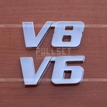 Эмблема V6, V8