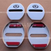 Хромированные накладки на петли дверных замков с эмблемой Skoda
