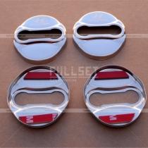 Хромированные накладки на петли дверных замков с эмблемой Hyundai