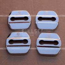 Хром-накладки на петли дверных замков с эмблемой Renault