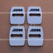 Хромированные накладки на петли дверных замков с символикой М