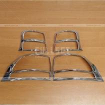 Накладки на задние фонари Toyota Prado 150 (08-12)