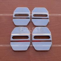 Хромированные накладки на петли дверных замков Mercedes Benz, комплект 4 штуки