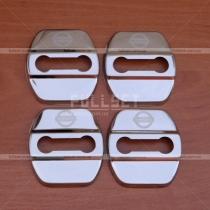 Хромированные накладки на петли замков дверей с логотипом Nissan