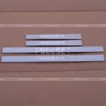 Пороги в салон Nissan Navara (05-12)