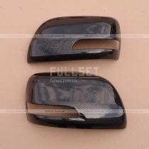 Накладки на зеркала карбоновые Toyota Land Cruiser 200 (08-...)