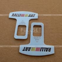 Хромированные защелки в держатели ремней безопасности с эмблемой Ралли Арт