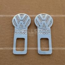 Вставки-обманки для ремней безопасности с эмблемой Фольксваген, оформленные стразами