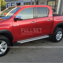 Пороги боковые Toyota Hilux (2016-...)