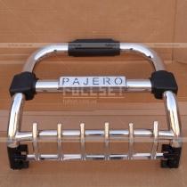 Кенгурятник передний с логотипом и креплениями для дополнительной оптики