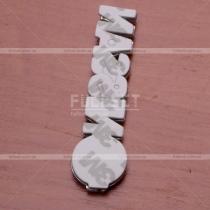 Надпись-эмблема Nissan хром (размер: 9 см на 2 см)
