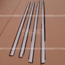 Хром-накладки на нижние молиднги окон (высококачественная нержавейка)
