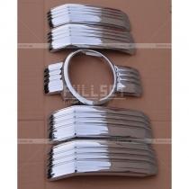 Хром-накладки на радиаторную решетку Prado 2018+