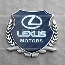 Логотип Лексус с гербом и отделкой под карбон