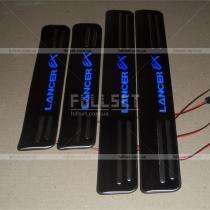 Накладки на пороги с подсветкой Lancer EX